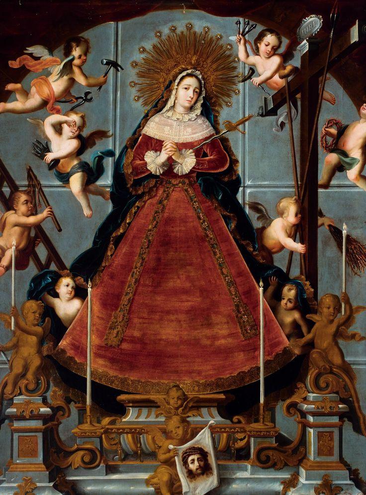 """Virgin of Sorrows (La Virgen de los Dolores),"" circa 1750, attributed to Nicolás Enríquez and featured in ""Painted in Mexico, 1700-1790: Pinxit Mexici,"" at the Los Angeles County Museum of Art."