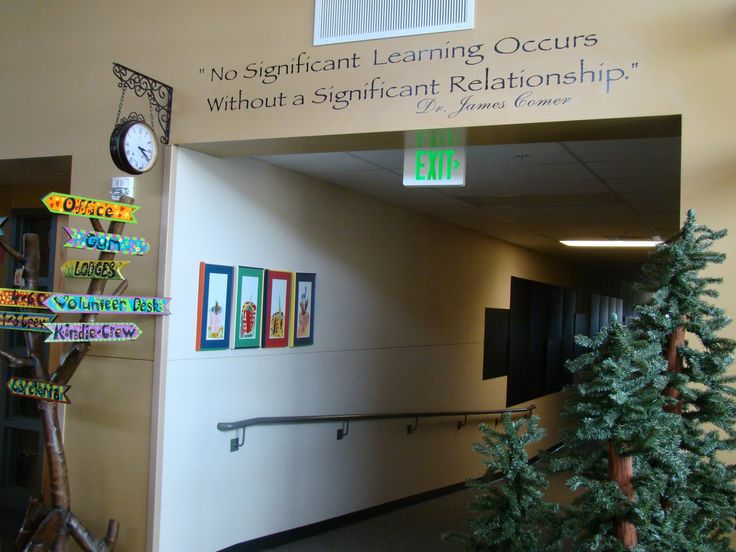 My Primary Passion: Where Do I Begin?  Love the quote above the hallway!