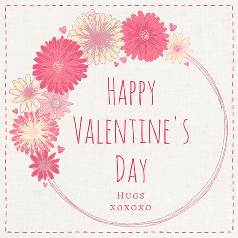 Easy DIY Boho Valentine's Day social media greeting template with daisies and hearts. Created by ArtnerDluxe in Canva. Customize your own version @ https://www.canva.com/artnerdluxe. Art elements © ArtnerDluxe www.artnerdluxe.com #canva #graphicdesign #valentine #template
