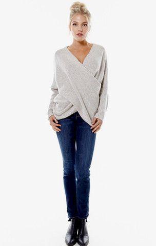 Hamptons Knit Sweater - Oatmeal - ShopLuckyDuck  - 1