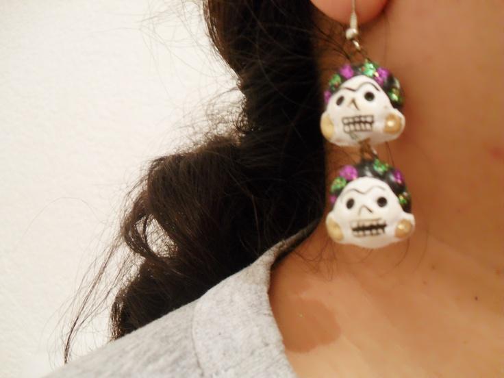 aretes de Frida Calavera
