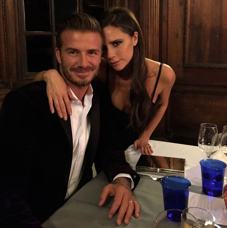 David Beckham e Victoria Beckham (Foto: Reprodução/Facebook)