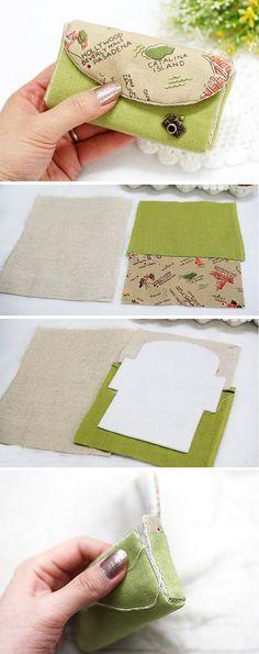 Card Pouch Organizer - Sewing Bag Tutorial DIY in Pictures. http://www.handmadiya.com/2015/10/small-organizer-bag.html
