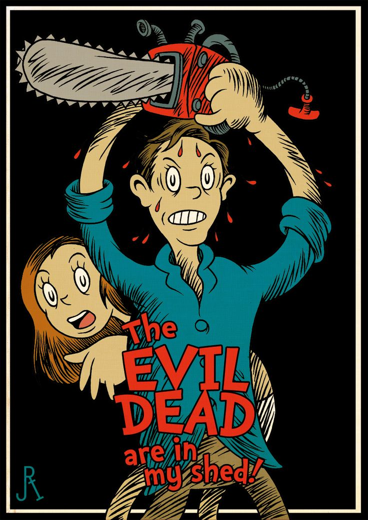 """#EvilDead meets #DrSeuss via @geektyrant: """"I chained and locked the cellar door--There's something strange beneath the floor."""""""