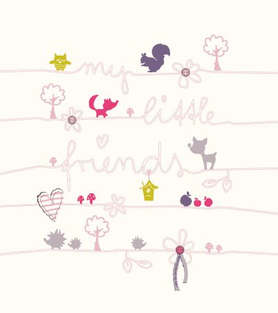 My little friends | Kidsfashionvector | cute vector art for kids clothes