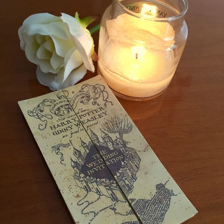 Have you always dream to have a magical wedding?  Now you can have it with our marauder's map wedding invitations!