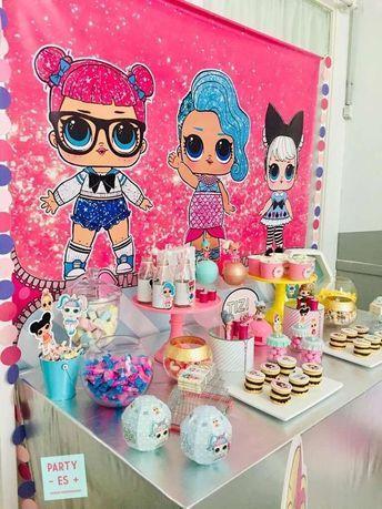 Der Desserttisch bei dieser LOL Surprise Dolls Geburtstagsfeier ist fantastisch! Siehe mo …   – LOL