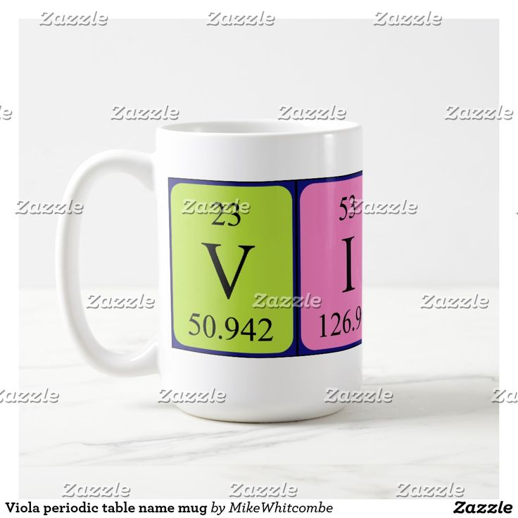 44 best periodic name images on pinterest periodic table viola periodic table name mug urtaz Gallery