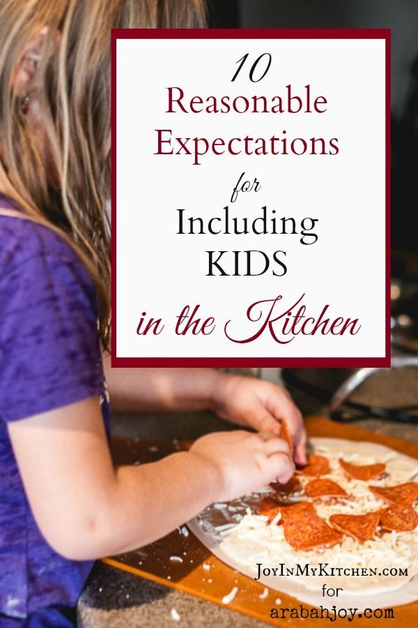 Including kids in the kitchen can be fun as long as you know what to expect! Here are 10 expectations for all parents to keep in mind when cooking with kids.