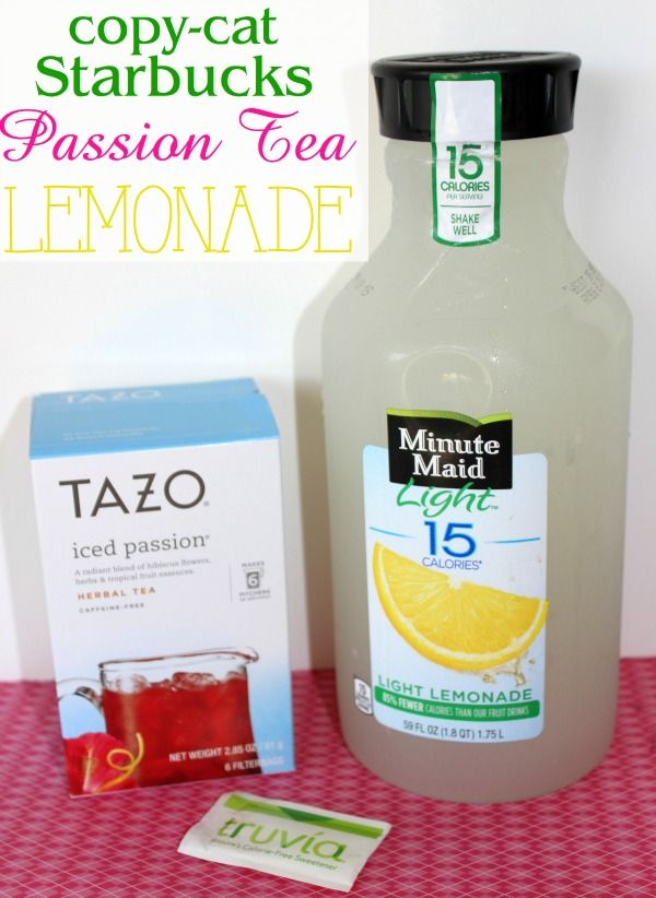 copy-cat Starbuck's passion tea lemonade- refreshing summer treat that tastes just like the one from Starbuck's!