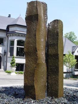 natural granite stone landscape pillars - Google Search