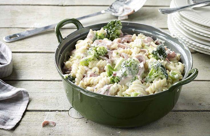 Spirelli met ham en broccoli   Colruyt