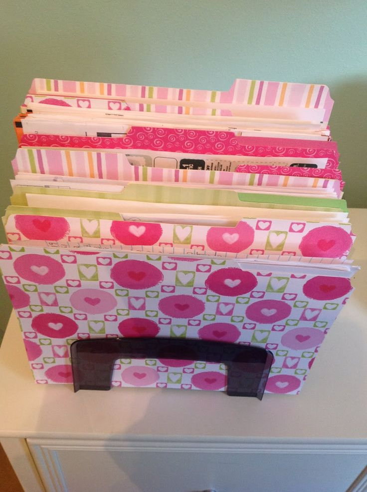DIY file folders - These could be useful