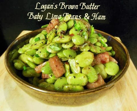 Logan's Brown Butter Baby Lima Beans & Ham