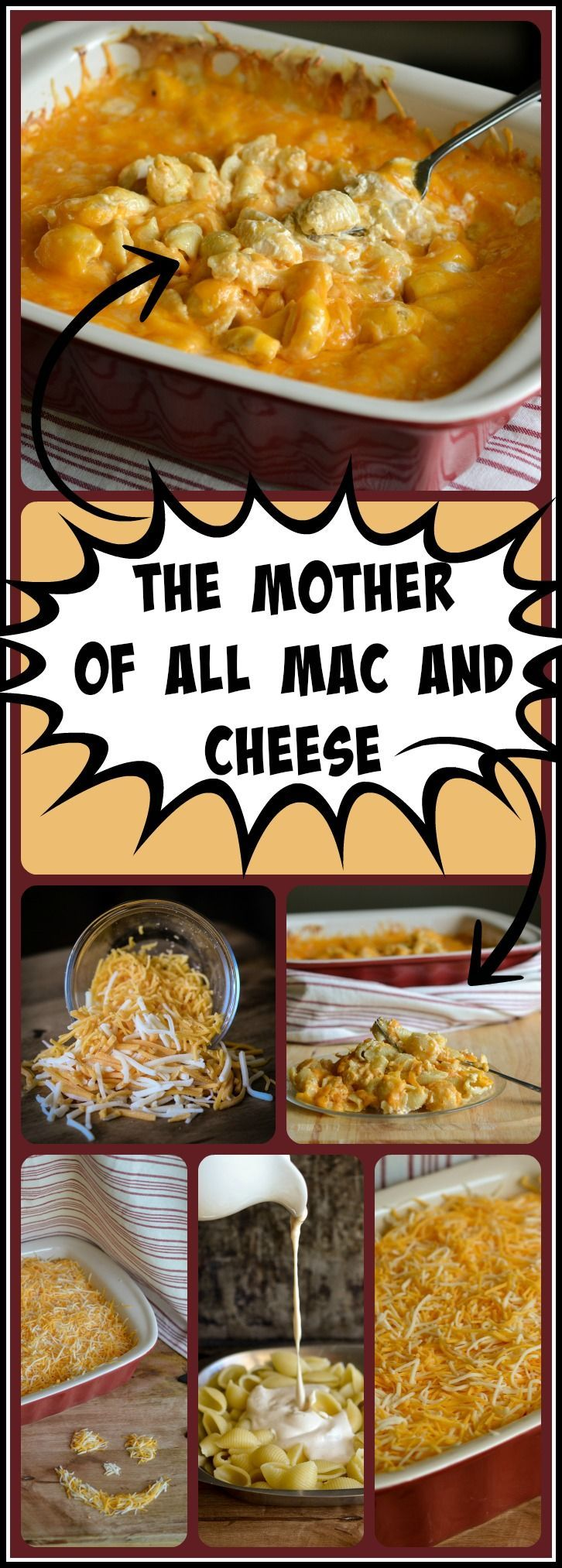 This easy to make mac and cheese is creamy on the inside and has an irresistible gooey layer of melted cheeses on top!