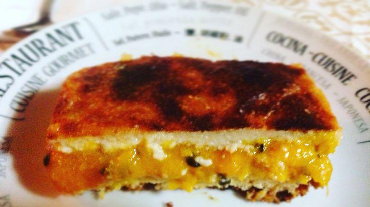 Kuchen de mango-maracuya #MuriGourmet