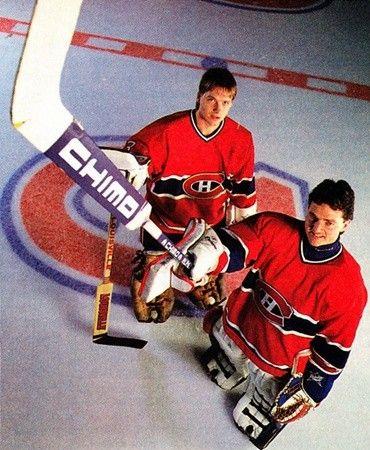 Patrick Roy and Brian Hayward - Montreal