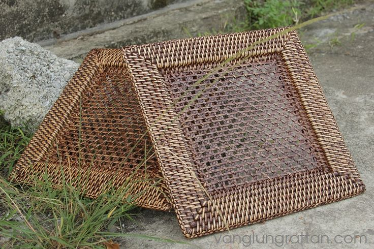 Square rattan charger plate with High quality - Vanglungrattan.com