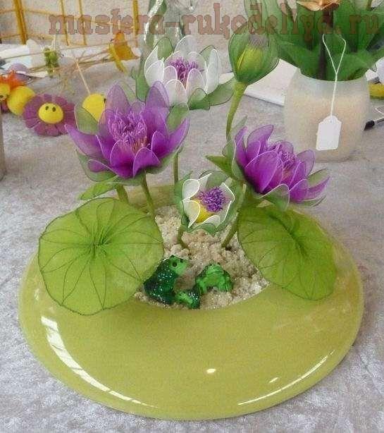 Hướng dẫn Làm hoa voan: Làm hoa súng (water lily)