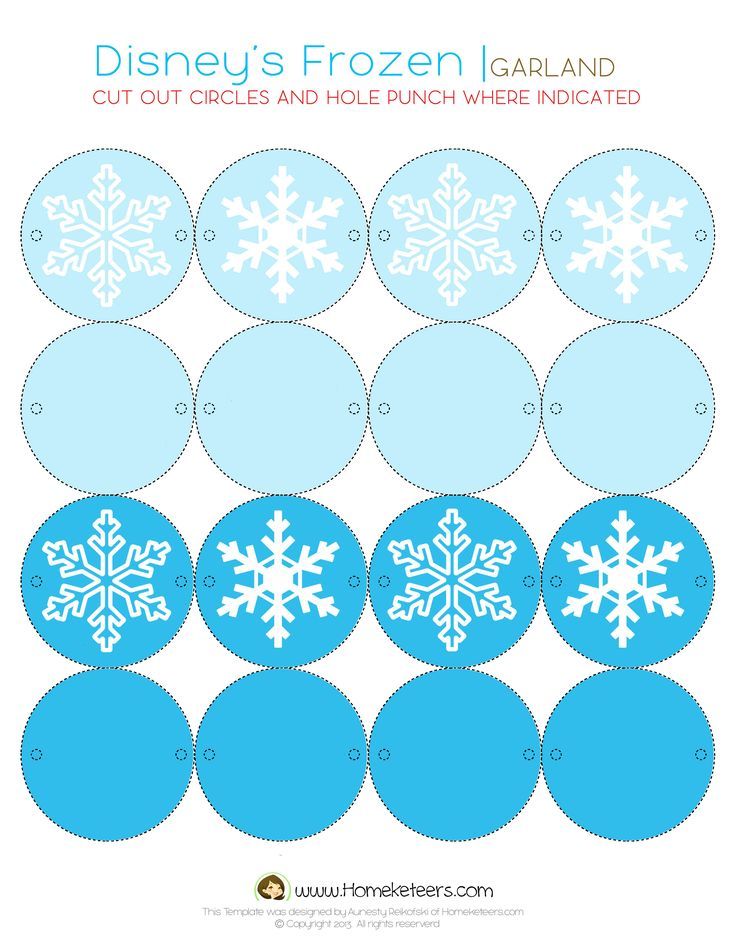Disney's Frozen Party Printables ~ FREE printables for the whole party | Homeketeers