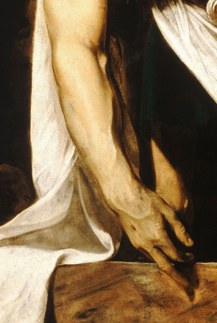 Caravaggio - The Entombment of Christ, 1602-3 (detail)