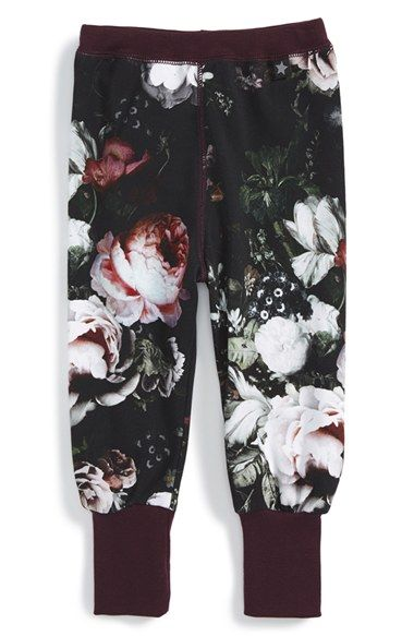 Molo 'Silvia' Floral Print Leggings (Baby Girls) at Nordstrom.com.