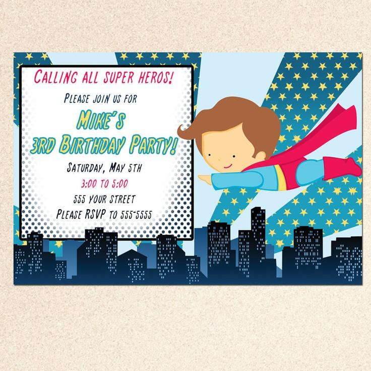 Superhero Birthday Invitations Templates Best Card Ideas