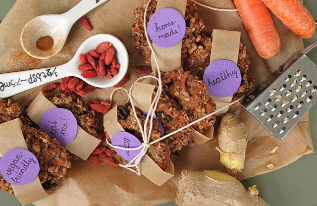 žít vege: mrkvové sušenky s goji, zázvorem a skořicí
