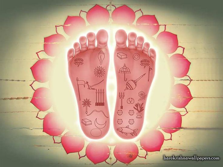 Sri Nityananda Lotus Feet Wallpaper