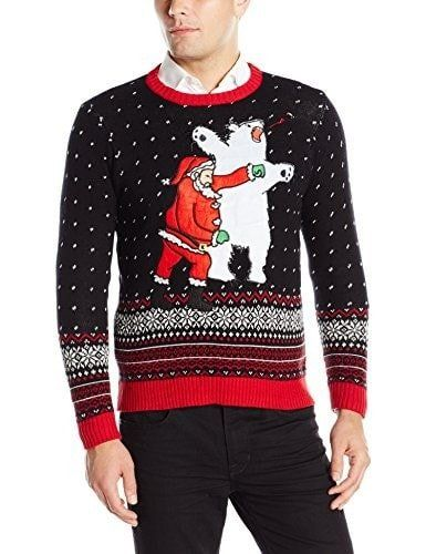 Men s Santa Sucker Punch Ugly Christmas Sweater Use checkout code UGLY15  for 15% off. Each purchase supports toys for…  da7b0ad8e