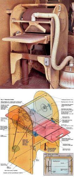 Thickness Sander Plans - Sanding Tips, Jigs and Techniques | WoodArchivist.com