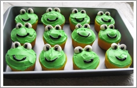 Frogs cupcakes