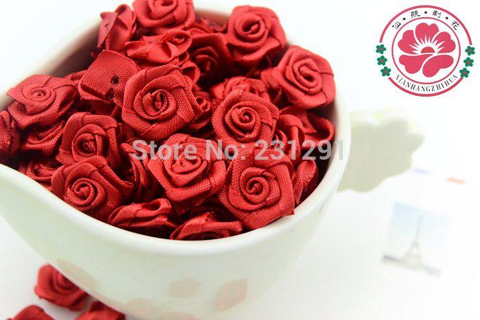 1 35 1 500ks / lot Hot Predaj troch farieb 15mm 15mm saténová stuha kvetina ruže pre remeslá odevné kvety a svadobné Doprava-in zadarmo dekoratívne kvety a vence z domova & Garden na Aliexpress.com | Alibaba Group
