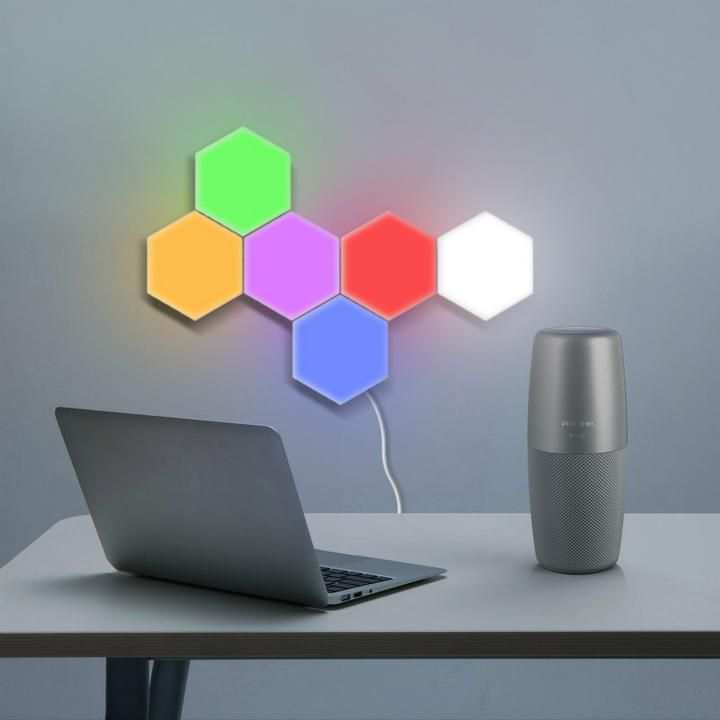 Hexagon Light Panels Free Shipping In 2020 Wall Lights Light Panels Motion Lights
