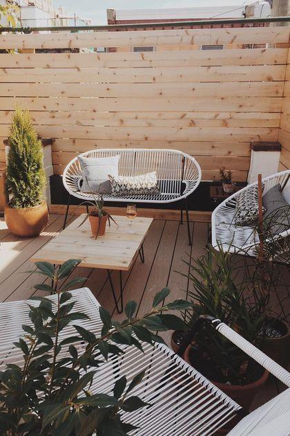Une petite terrasse à l'abri des regards