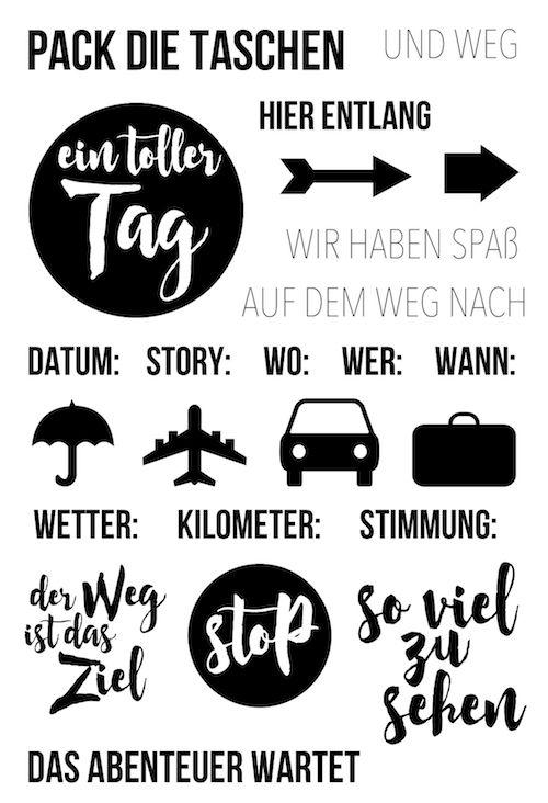 "Klartext Stempelset ""Pack die Taschen"" von www.danipeuss.de #dpSeptemberkit16 #danipeuss #stempeln #klartext"