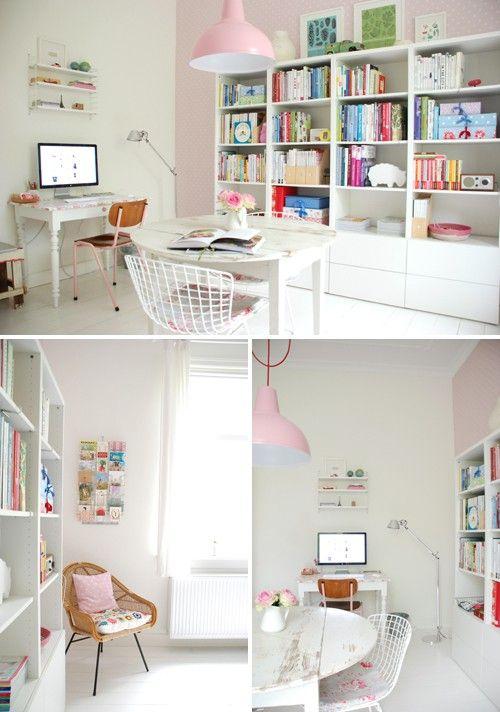combinacion blanco y rosa pastel