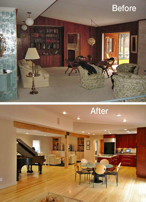 Ranch House Interior Remodel Before And After