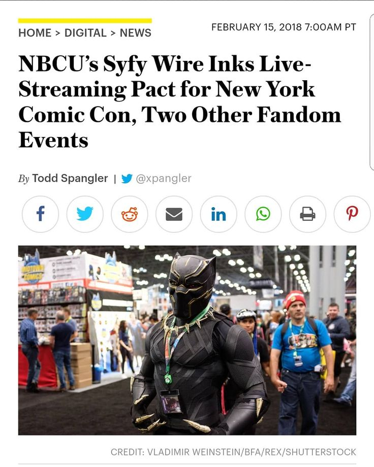 A huge Thank you goes out to @joethebeastmccoy for sharing this link with me. This is pretty cool I had no idea until I received the link.  http://variety.com/2018/digital/news/nbcus-syfy-wire-inks-live-streaming-pact-for-new-york-comic-con-other-events-1202698887/amp…