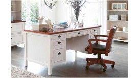 Piedmont Executive Desk - Distressed White
