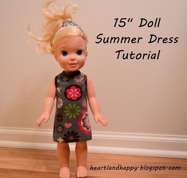 "Nap Time Crafters: 15"" Doll Summer Dress Pattern with Heartland Happy"