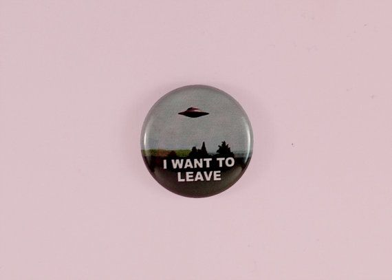 I WANT TO LEAVE 1 button by astropuke on Etsy