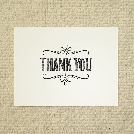 DIY Thank You Card  Handlettered Rustic Love by AmyAdamsPrintables, $15.00