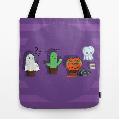 """""""extreem costume"""" #bag on sale on SOciety6.com If you like it and you would like to buy one go on """"You can also buy my designs in """"designbyhumans.com/shop/VanyNany/"""" What unmissable chance to wear a unique design t-shirt ! So follow me!______#ghosts #bat #halloween #cute #kawaii #pumpkin #costume #night #candies #cactus"""