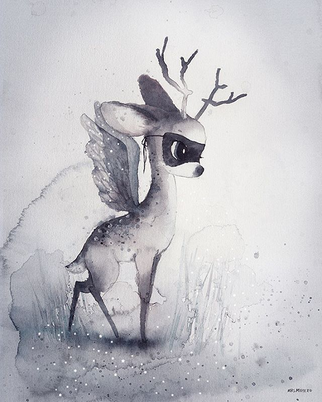 2,585 vind-ik-leuks, 113 reacties - Mrs Mighetto (@mrsmighetto) op Instagram: 'Next print in #theendoftheforest •DEAR FAWN • ...Every year the quickest runner is entrusted with…'