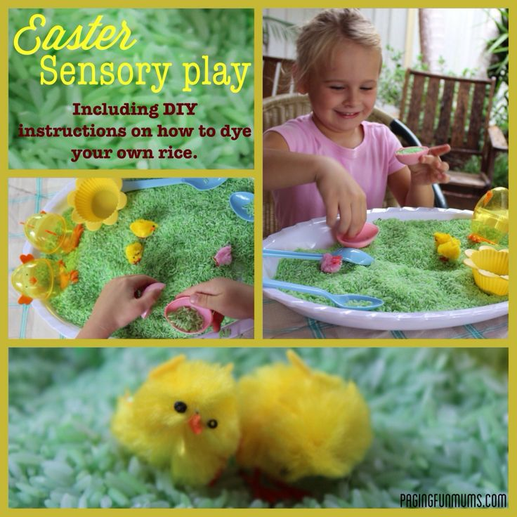 Easter Sensory Play - This is a great open ended play opportunity with an Easter theme.