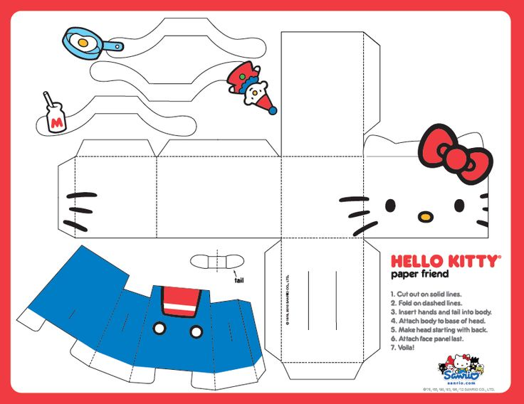 FREE printable Hello Kitty Paper Toy