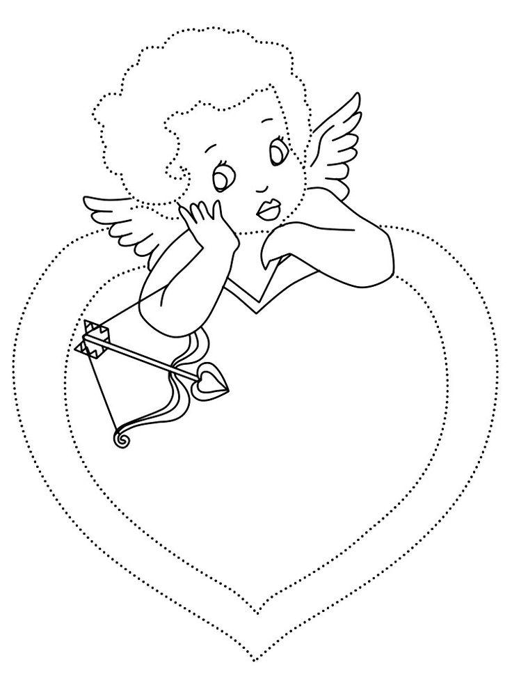 Февраля, раскраски открыток с днем ангела