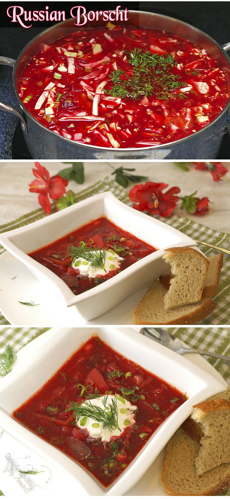Meatless, Hearty and Healthy - Russian Borscht!