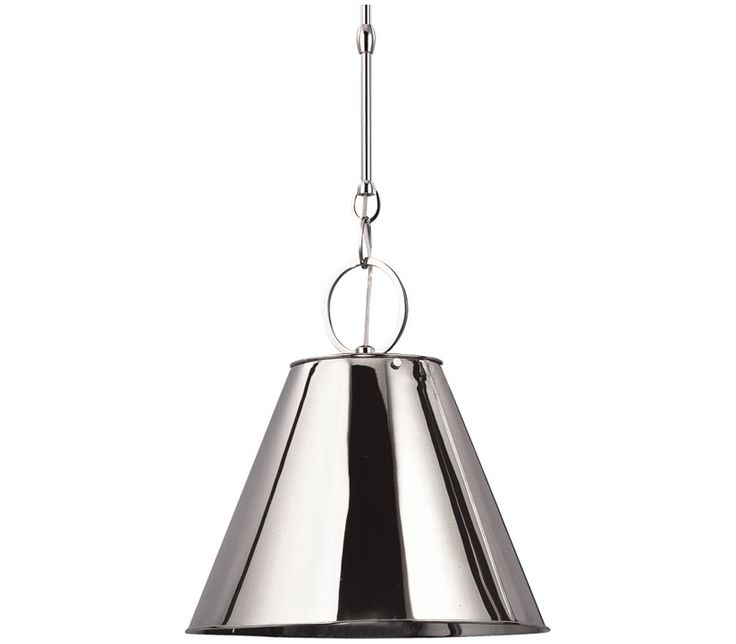 Hudson valley 5511 hn altamont cone pendant 1 light 100 total watts nickel